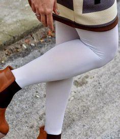 Marianne Eighties 60 enkellegging Wit Basic Leggings, White Jeans, Pants, Fashion, Lights, Trouser Pants, Moda, Fashion Styles, Women's Pants