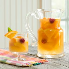 Summer Peach Sangria -- a fruity, refreshing, crowd-pleasing cocktail that can be made in advance