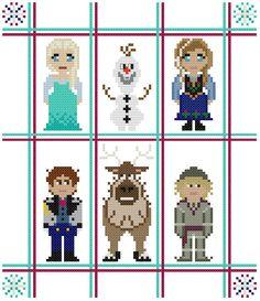 Disney Frozen Characters Pattern by KeenahsCrossStitch