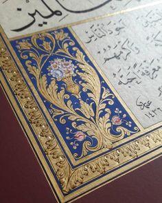 tuba asiltürk tezhip ile ilgili görsel sonucu Islamic Patterns, Turkish Art, Illuminated Manuscript, Teaching Art, Islamic Art, Sacred Geometry, Magick, Something To Do, Miniatures