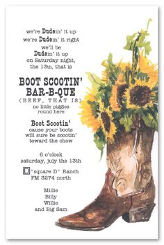 gross words, but sunflowers in boot are super cute