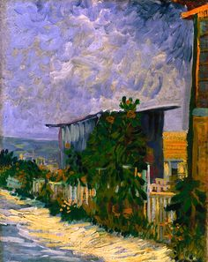 Shelter on Montmartre, june 1887 Vincent van Gogh the first piece of his work I even saw