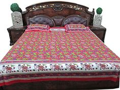 Indian Bedspread Red Animal Printed Cotton Bedsheet Coverlet Mogul Interior http://www.amazon.com/dp/B00LSF71YY/ref=cm_sw_r_pi_dp_cNaXtb1SRRED7BVB