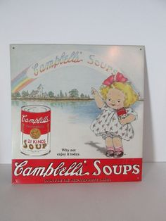 Original Campbells Soup Kids Nostalgic Advertising Sign #10 Of A Series Of 20  #CampbellsSoup