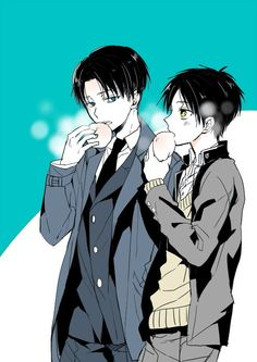 excUSE U EREN IS TALLER THAN LEVI BY A LOT! HE AIN'T SHORTER TRUST ME