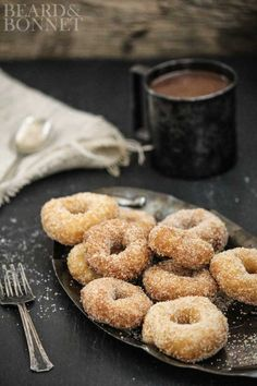 Cinnamon Sugar Donuts {Beard and Bonnet} #glutenfree #projectlunchbox