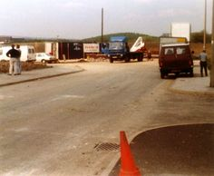 Work begins on the Maplin Wombwell Site - this photo shows what would become the entrance point to the site 1989