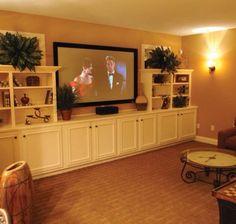 Great basement tv room