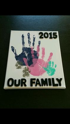 Baby diy crafts canvas New Ideas Kids Crafts, Family Crafts, Crafts To Do, Arts And Crafts, Family Art Projects, Kids Diy, Crafts With Babies, Baby Feet Crafts, Baby Footprint Crafts