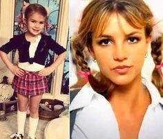 Maddie Spears se disfraza de su tía Britney para una fiesta del colegio #people #celebrities #kids #cantantes