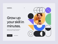 Rotation. – Hero header exploration by Tran Mau Tri Tam ✪ Ui Design Inspiration, Social Media Content, Header, Growing Up, Custom Design, Branding, Hero, Explore, Marketing
