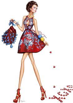 Fashion-fashionable-birthday-greeting-card-fabulous-Pergie-unique-card #bocetos #vestidos #moda: