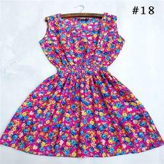 Women's Printed Chiffon Dress (different designs)