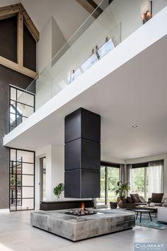 Dordrecht - culimaat - high end kitchens fireplaces дизайн камина, дом и ин Modern Bedroom Design, Modern Interior Design, Interior Architecture, Bedroom Designs, Living Haus, Dream Home Design, Fireplace Design, New Homes, Design Case
