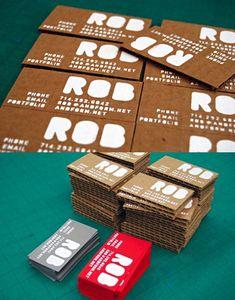 biz card / cardboard