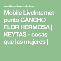 Mobile LiveInternet punto GANCHO FLOR HERMOSA | KEYTAS - cosas que las mujeres |