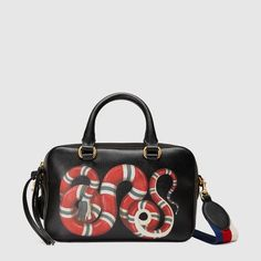 c3cebb207d5 Gucci Snake print leather top handle bag  guccisnakebag