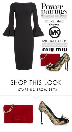 """""""Embellished Sleeves"""" by conch-lady ❤ liked on Polyvore featuring Miu Miu and Michael Kors"""
