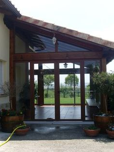 Although old around strategy, a pergola may be enduring a present day renaissance all these Screened Porch Designs, Backyard Patio Designs, Screened In Porch, Pergola Designs, Pergola Patio, Gazebos, Timber Roof, Enclosed Porches, Roof Structure