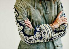 Embroidered jacket sleeve