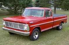 1967 FORD F-100 PICKUP ..... dream truck!  This is an image of the first pick-up my dad purchased - up until then, his trucks were all log and lumber trucks.  We thought it was quite a comfortable ride after riding in all those big beasts parked around his sawmills.