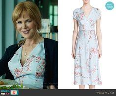 2c12a0754871 Nordstrom Signature + Caroline Issa Floral Print Silk Twill Midi Dress worn  by Nicole Kidman on Big Little Lies