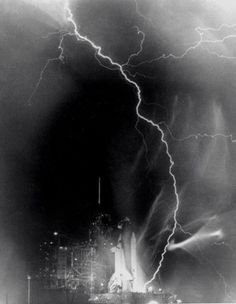 Electrical storm over Kennedy Space Center, 1983