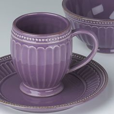 French Perle Groove in Lavender by Lenox
