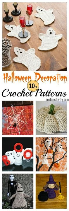 Here are some Halloween decors with free crochet patterns.   DIY Halloween Decor Ideas   Halloween Crochet Projects   Yarn Lovers