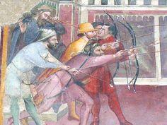 Martirio di San Sebastiano (dettaglio), fine XIV sec. - Chiesa di San Domenico in Arezzo.