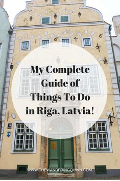 My Complete Guide of Things To Do in Riga, Latvia!  Riga is a great place for a City Break and there is plenty to do. Riga has a lovely Old Town, plenty of Museums, an Art Nouveau District, and awesome restaurants! Check out everything I recommend doing in Riga here! #riga #latvia #liveriga #easterneurope