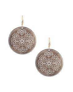 Adorable Floral Design Circular Earrings | Rs. 250 | http://voylla.com