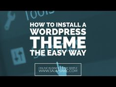 In case you missed it, here you go 🙌 How To Install a WordPress Theme The Easy Way https://youtube.com/watch?v=UzuegN9Q_sM