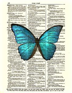Dictionary Art Print Butterfly Art Print by reimaginationprints, $10.00