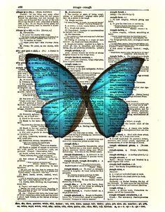Dictionary Art Print Butterfly Art Print by reimaginationprints, $10.00