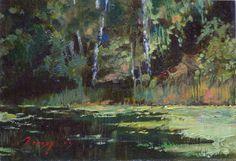 Landscape by Bogdan Goloyad 12x17 sm oil on by BogdanGoloyadArt