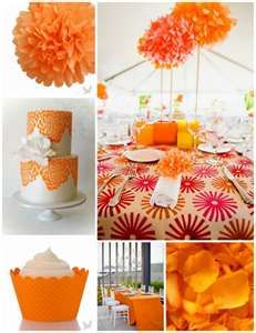 Decorate your trendy wedding reception with Orange Tango for a one of a kind event. These orange tissue paper pom poms really create a show stopping event. Combine with Tangerine tablecloths and you have a unique pop of color that is hard to miss! The Colour Of Spring, Color Of The Year, Tangerine Wedding, Wedding Orange, Fiestas Party, Orange Party, Paper Pom Poms, Tissue Paper, Trendy Wedding