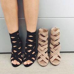 """New Women High Heel Sandals Stiletto Ankle Wrap Sexy Summer Shoes Colors: Black, Khaki, Blue US European Inches Centimeters 4 35 8.1875"""" 20.8 (cm) 4.5 35 8.375"""" 21.3 (cm) 5 35 - 36 8.5"""" 21.6 (cm) 5.5"""