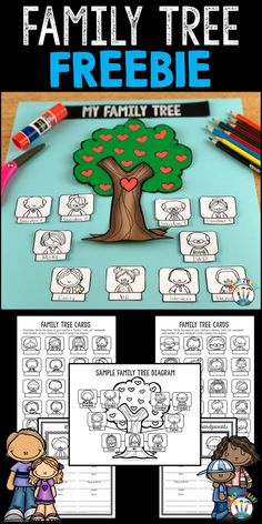 For a sneak peek inside our Treasure Each Month: September Activities Bundle check out this Family Tree Project Freebie! Family Tree For Kids, Trees For Kids, Family Tree Art, Classroom Family Tree, Baby Family, Classroom Ideas, Preschool Family, Family Activities, Preschool Themes