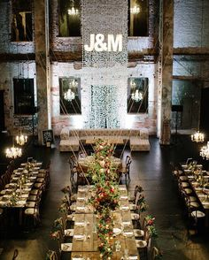 """Style Me Pretty on Instagram: """"A serious view from above! This industrial wedding was full of some serious details! 