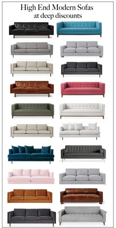 Higher end designer sofas at deep discounts available to the public