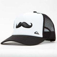 8a5163a192c QUIKSILVER Stavi Mustache Mens Trucker Hat Mens Trucker Hat