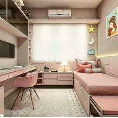 Girl bedroom designs - 34 lovely dorm room organization ideas on a budget 23 Apartment Bedroom Decor, Room Design Bedroom, Girl Bedroom Designs, Bedroom Layouts, Bedroom Ideas, Girls Bedroom, Diy Bedroom, Bedroom Small, Apartment Layout