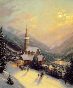 Thomas Kinkade Winter - Winter Fan Art (23436559) - Fanpop fanclubs