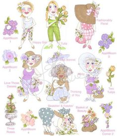 Garden Party Il Embroidery Design Collection  CD by loraliedesigns, $59.00