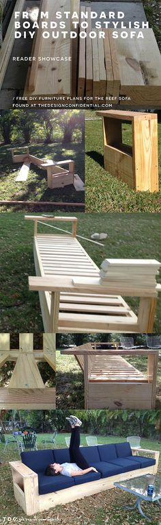 Real Reader Build and Showcase for a DIY Outdoor Sofa Build