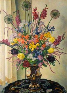 adrian allinson artist   Adrian Allinson 1890-1959: Flower Piece   British Art   Pinterest