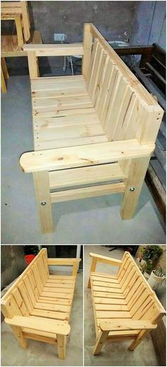 Wooden Pallet Projects awesome Top Summer Wooden Pallet Furniture Crafts for Saturday Wooden Pallet Projects, Wooden Pallet Furniture, Pallet Crafts, Wooden Pallets, Wooden Diy, Diy Wood, Pallet Chair, Pallet Benches, Pallet Ideas Easy