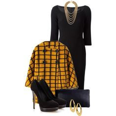 """Checked Outer Wear Contest Set 3"" by penny-martin on Polyvore"