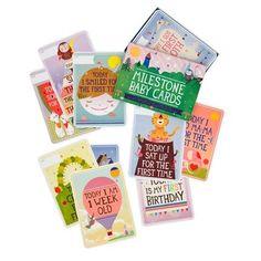 Das perfekte Babygeschenk zur Geburt   Milestone Baby Cards zum Festhalten von Babys denkwürdigsten Momenten, DEUTSCH